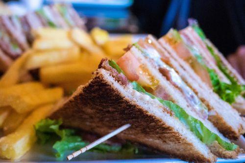 fries sandwich club sandwich