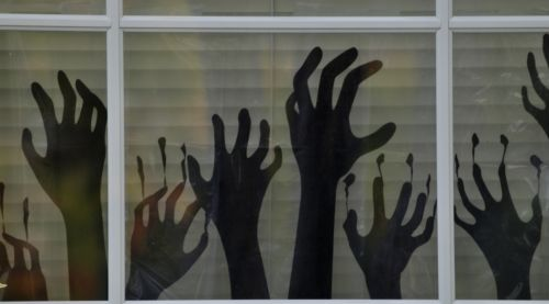 Frightened Silhouette Hands