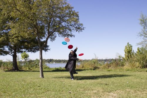 frisbees lake stop motion