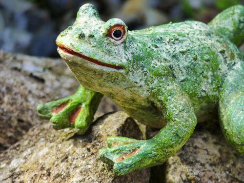 frog gartendeko figure