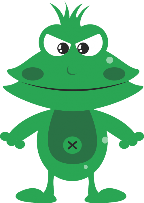 frog mean angry