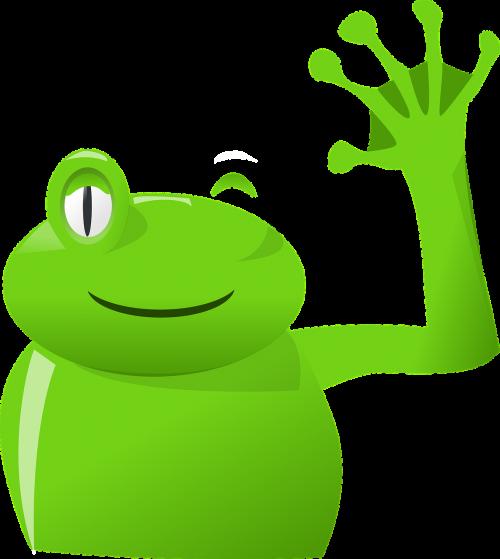 frog hand wave