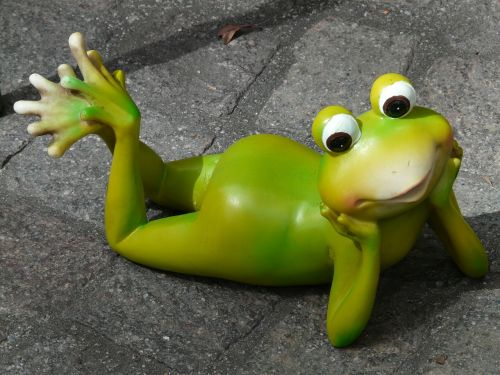 frog figure ceramic