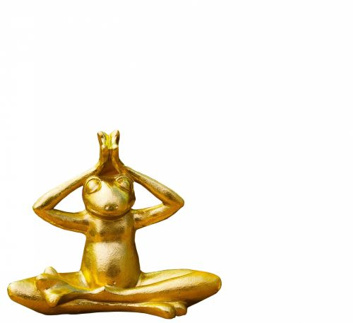 Frog Golden Statue Isolated