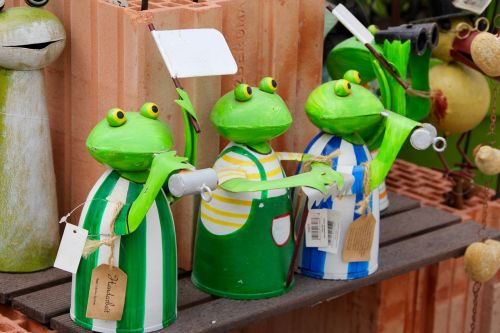 frogs froschdeko figures