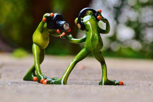 frogs headphones music