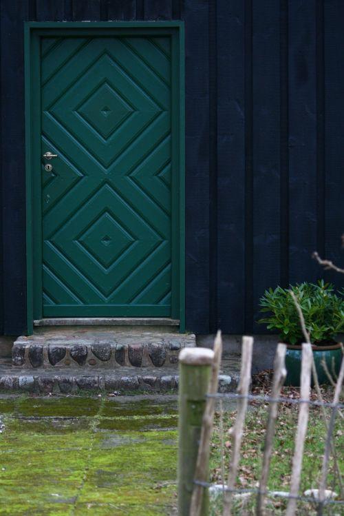 front door wooden door wooden house