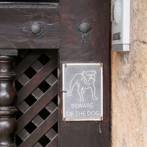 front door detail beware