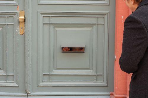 front door letter-box slot child