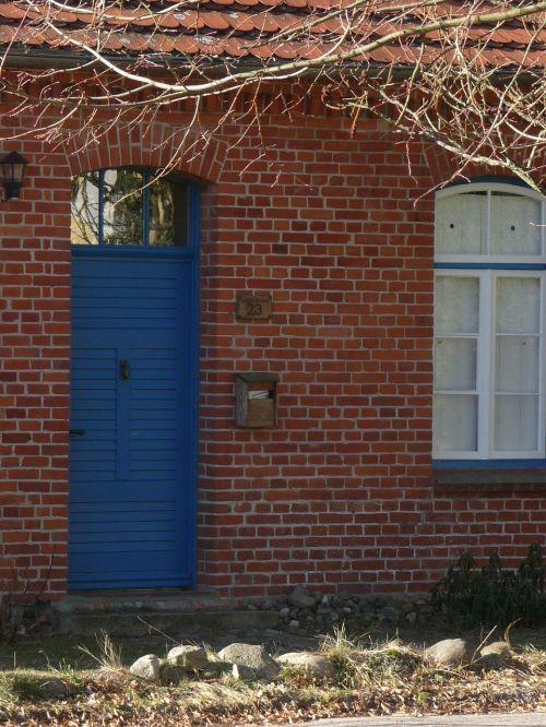 front door blue door home