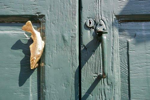 front door  door handle  fish