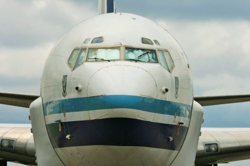 Front View Of B-707