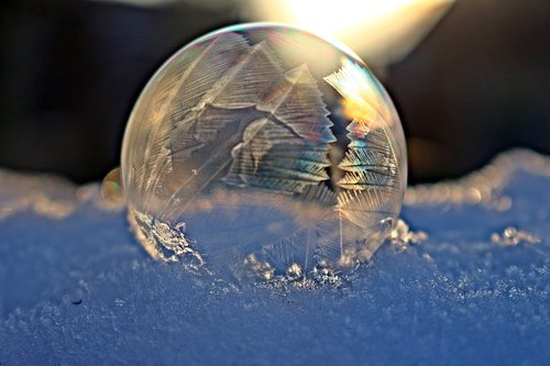 frost ball  frozen bubble  soap bubble