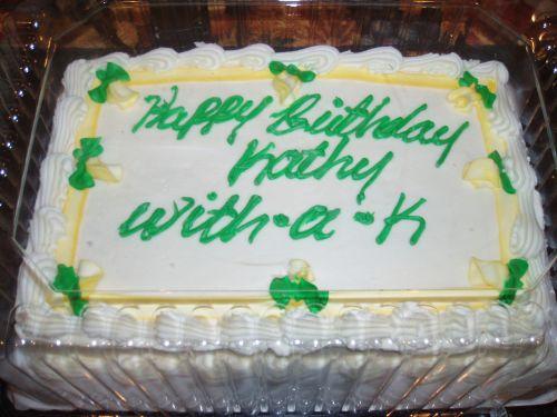 Frosted Birthday Cake Error