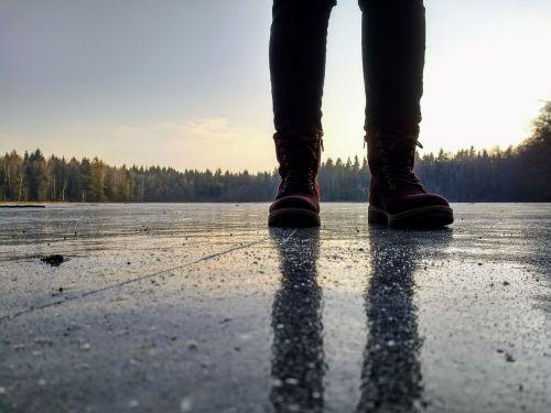 frozen ice cover ice
