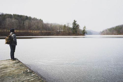 frozen lake viewing lake