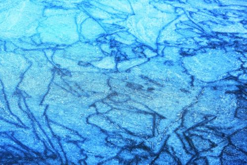 Frozen Water Abstract Blue 2