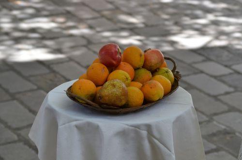 fruit orange cloth