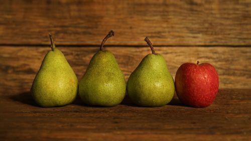fruit pears apples