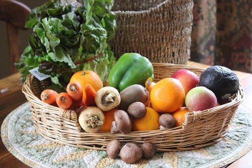 fruit  veggies  basket
