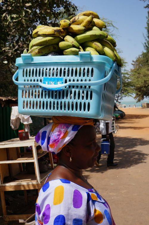 fruit banana black women