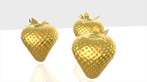 fruit  gold  gold object isolated