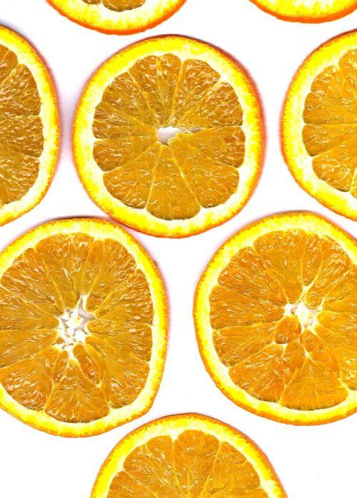 fruit orange discs