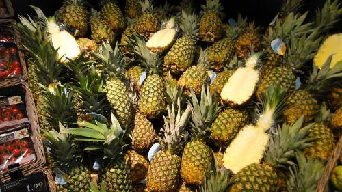 fruit pineapple supermarket