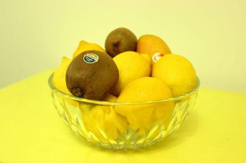 vaisiai, maistas, citrina, geltona