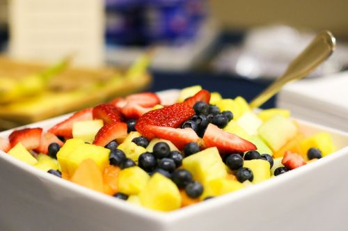 fruit salad fresh blueberries