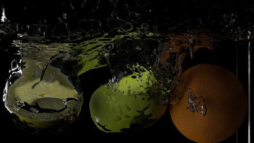 fruit splash blender 3d