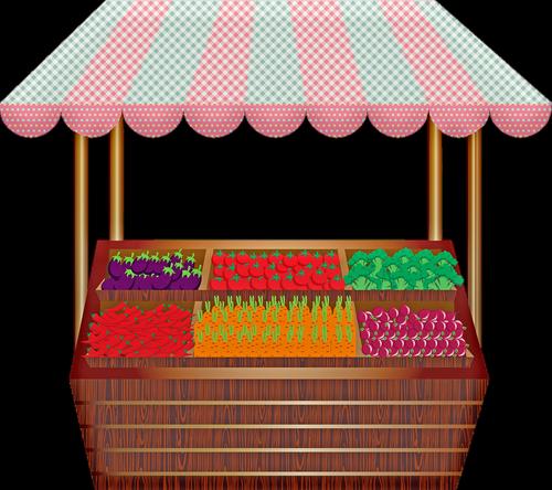 fruit stand  open air market  vegetables