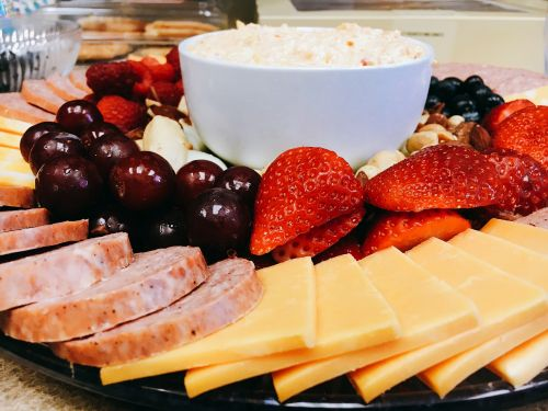 fruit tray catering cheese tray