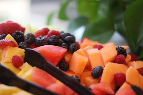 fruit tray compote blueberries