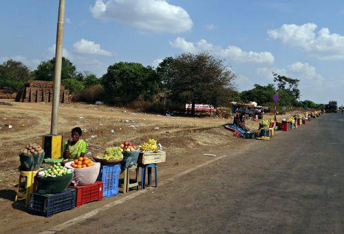 fruit vendors street hawker hubli
