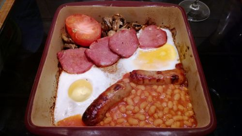 Fry-up In Stoneware Dish