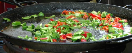 Frying Chili Bell Peppers