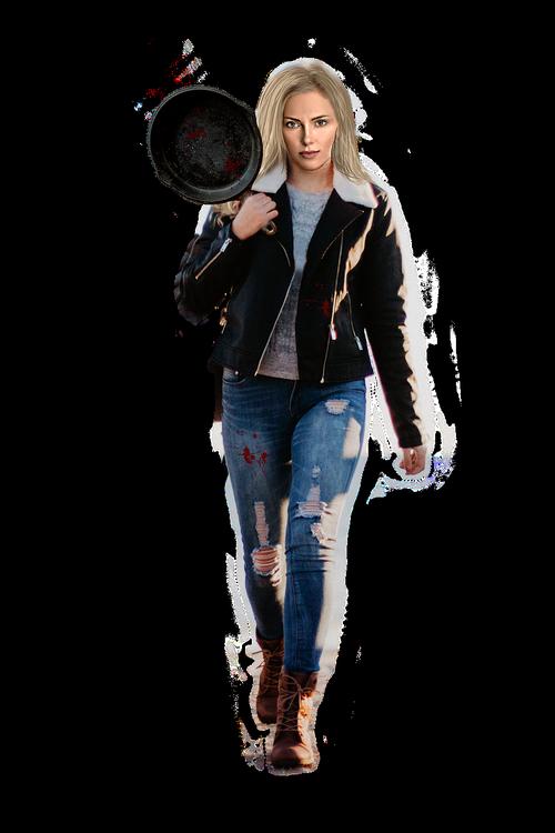 frying pan  woman  weapon