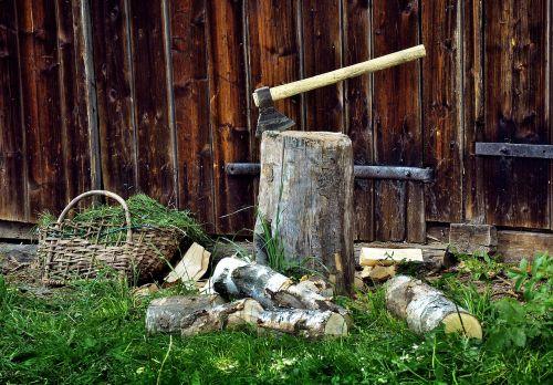 fuel wood ax