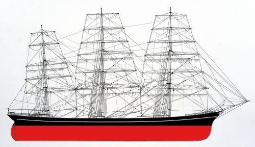 full rigged sailing