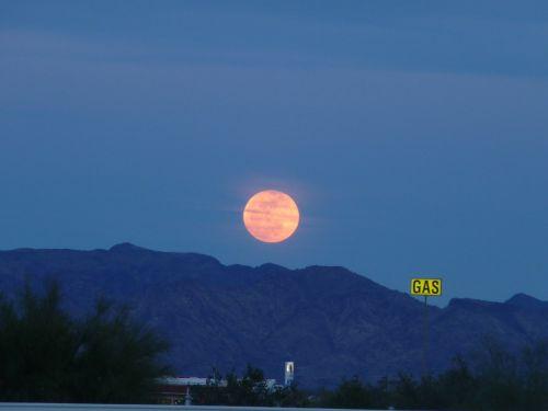 full moon harvest moon quartzsite