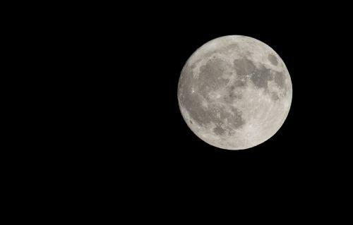 full moon close night