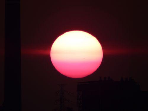 Full Sun Orb At Sunset