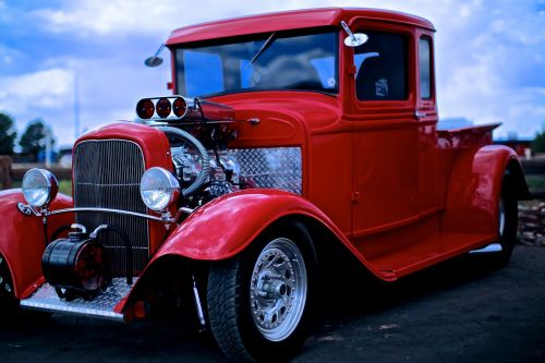 fun car pickup truck refurbished vintage car