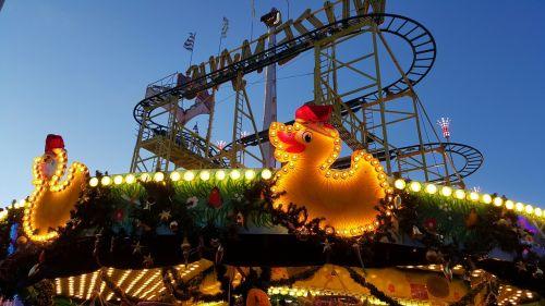 funfair roller coaster carousel