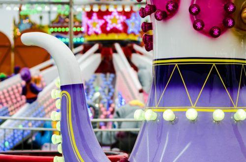 funfair teacups amusement park