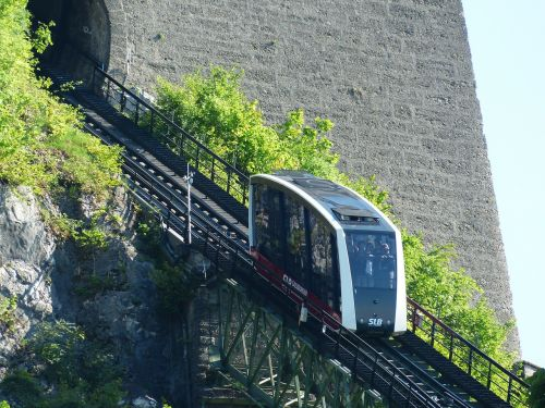 funicular railway train fortress