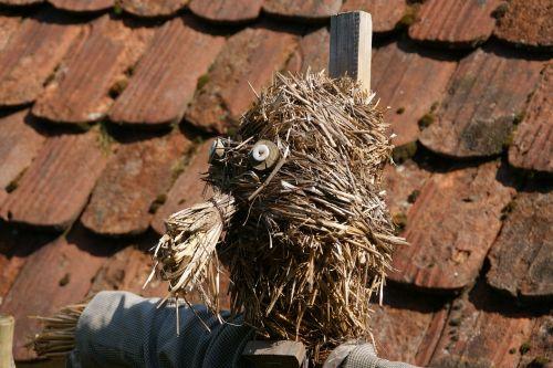 funny straw scarecrow