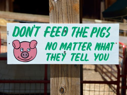 Funny Sign At Petting Zoo