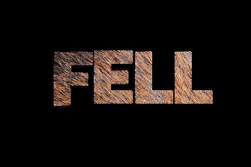 fur texture lettering
